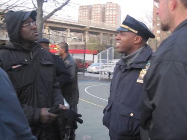 Inspector Rodney Harrison, the commander of the 32nd Precinct, on a prayer walk aimed at cutting violence in Harlem.