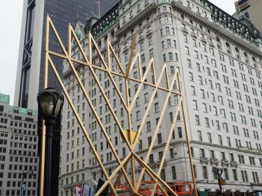 The behemoth Hanukkah lamp will be lit at 8:30 p.m. Saturday to celebrate the Jewish Festival of Lights.