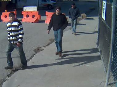 Police are looking for these three men in connection with a robbery at a construction site at West 133rd Street on Dec. 18, 2011.