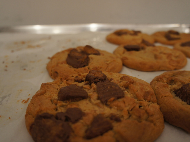 These peanut butter chocolate cookies are a favorite at Insomnia Cookies on the Upper East Side.