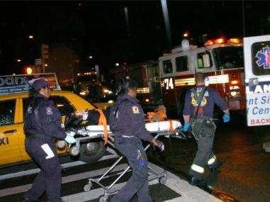 A woman was struck by a vehicle near West 92nd Street and Broadway early Thurs., Dec. 22, 2011, authorities said.