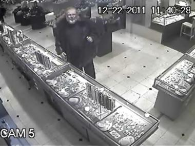 This man is wanted for allegedly stealing a $75,000 emerald from Astro Gallery of Gems on Dec. 22, 2011.