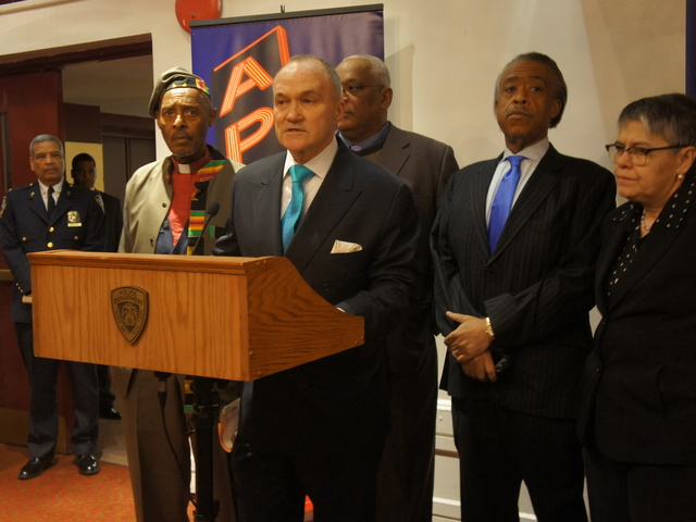Police Commissioner Ray Kelly at the Apollo Theater for the NYPD's  multicultural immersion training course Dec. 27, 2011.