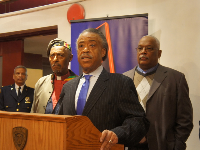 Rev. Al Sharpton attends an NYPD multicultural immersion course at the Apollo Theater.