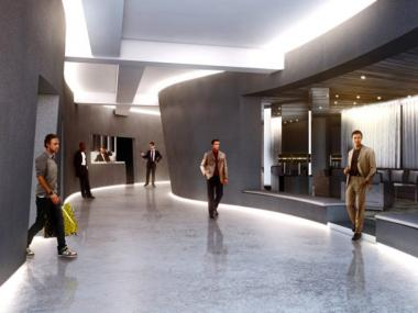 A rendering of the interior of The Out NYC.