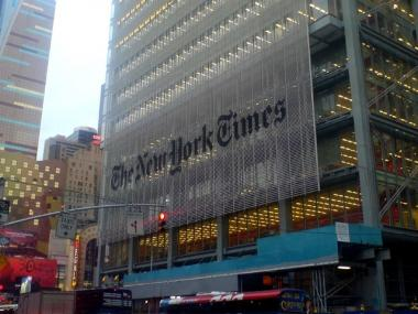 The New York Times building in Midtown.