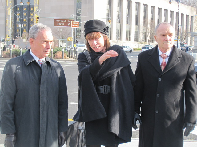 Mayor Michael Bloomberg, Transportation Commissioner Janette Sadik-Khan and Police Commissioner Ray Kelly announced the new stats after touring Grand Army Plaza.