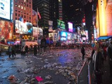 New Year's Cleanup Effort Leaves Times Square Scrubbed