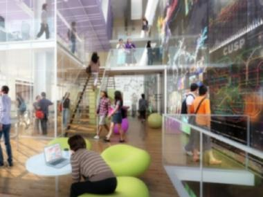 A rendering of NYU's Center for Urban Science and Progress at 370 Jay St.