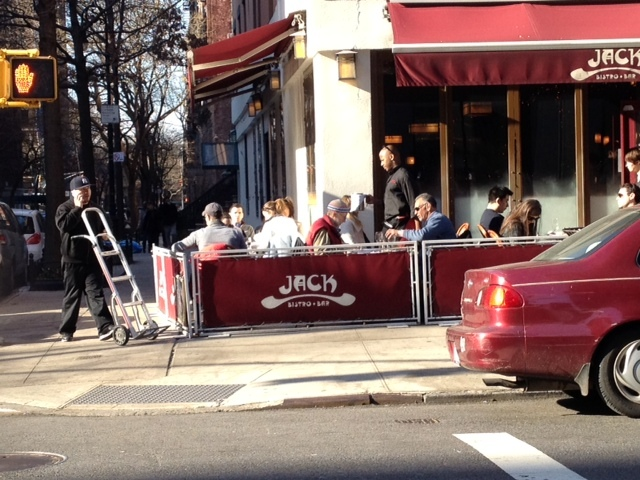 Diners at al fresco in Greenwich Village on Sat., Jan. 7, 2012, when the temperature topped out at 62 degrees.