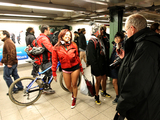 Pantless Subway Riders Stun Straphangers with Skin Show