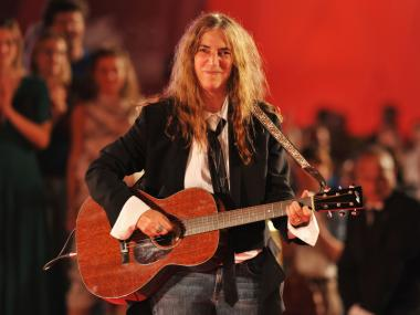 Patti Smith performs in Venice, Italy in Sept. 2011. The songstress is set to put on a private show at the Hotel Chelsea on Thursday.