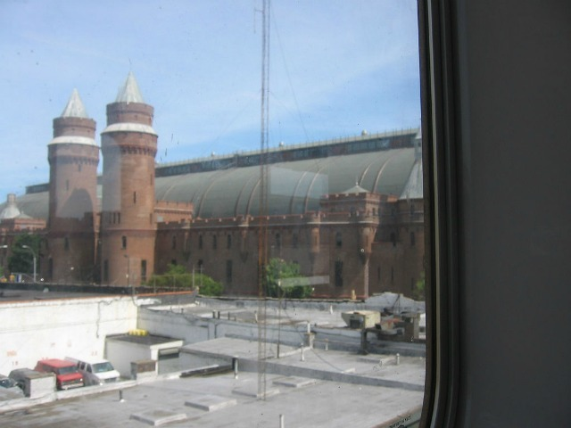 The armory, seen from the 4 train.