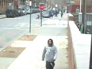 Police are looking for this man in connection with a robbery on Clinton Street on Dec. 17, 2011.