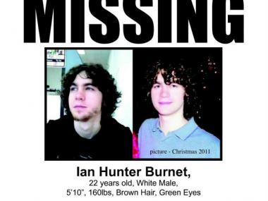 Police are looking for Ian Burnet, who went missing on Dec. 30 during a trip to New York.