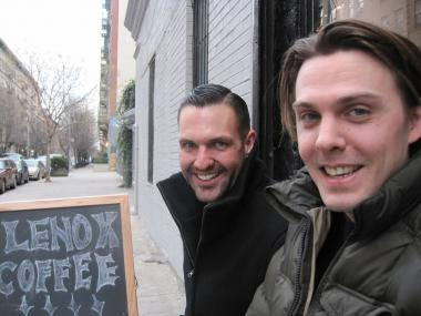 College roommates Aaron Baird and Jeffrey Green are both real estate agents and musicians. In December, they added coffee shop owner to their resumes when they opened Lenox Coffee on 129th Street.