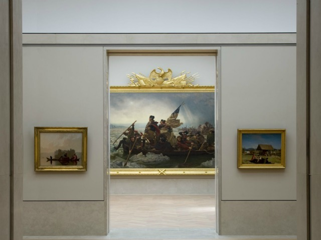 <p>&quot;Washington Crossing the Delaware&quot; is the centerpiece of the Met&#39;s renovated American Wing.</p>