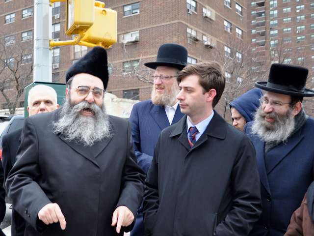 Rabbi Niederman said the swastika was part of an increase in anti-Semitic incidents in Williamsburg.