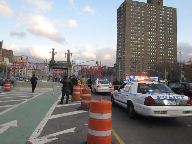A 12-year-old girl was killed on Delancey Street near the entrance to the Williamsburg Bridge Jan. 13, 2012.