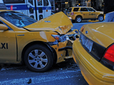 Two Taxis Collide on 53rd Street and Seventh Avenue