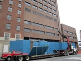 Construction Fences Surround Former St. Vincent's Hospital Building
