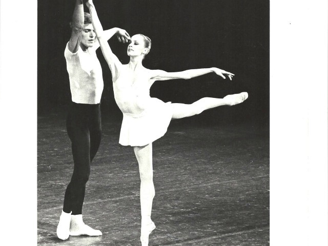 Heather Watts and Peter Martins in George Balanchine's Concerto Barocco.
