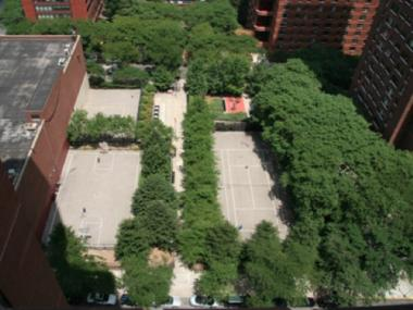 An overhead view of Ruppert Playground at 222 E. 93rd St.