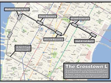 David Wright's dream plan for a crosstown L that would connect many iconic Manhattan landmarks.