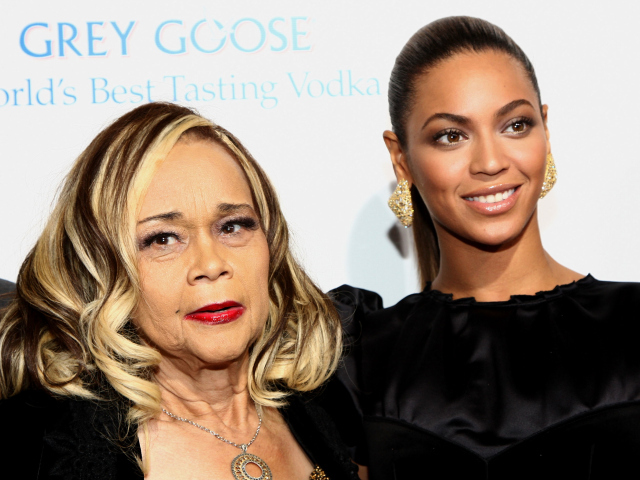 Singers Etta James and Beyonce Knowles.