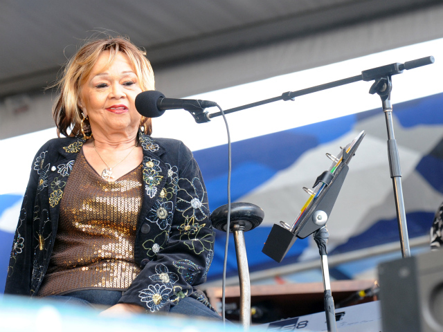 Etta James performing in New Orleans in 2009.