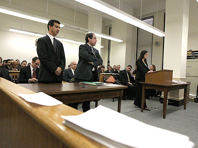 Council member Ydanis Rodriguez appears in Manhattan Criminal Court on Jan. 20th, 2012.