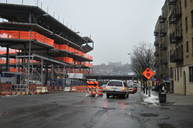 Approximately 12 parking spots were lost when Columbia University began its construction of a new athletic complex on West 218th Street, between Park Terrace East and Broadway.