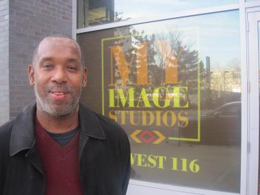 Roland Laird, CEO of My Image Studios LLC, after inspecting construction progress on the $21 million film screening, performance space and restaurant that will be dedicated to the culture of the African and Hispanic diaspora.