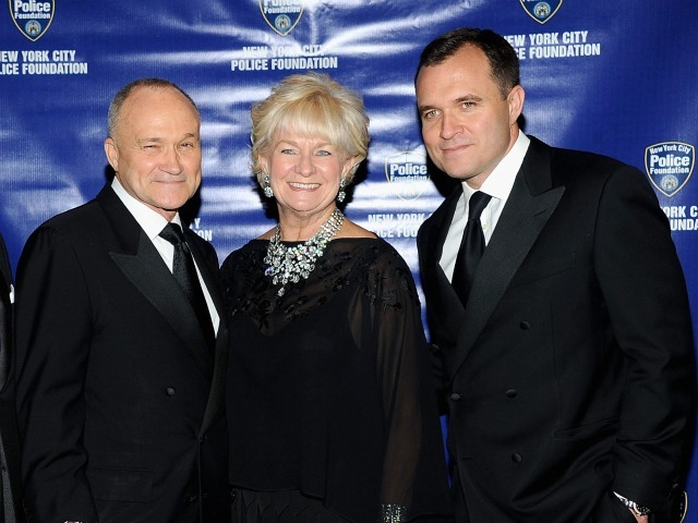 New York City Police Commissioner Raymond W. Kelly, his wife Veronica Kelly, and Greg Kelly attend the 33rd Annual Police Foundation gala at The Waldorf=Astoria on June 2, 2011 in New York City. The younger Kelly has been accused of raping a woman in Lower Manhattan in October 2011.
