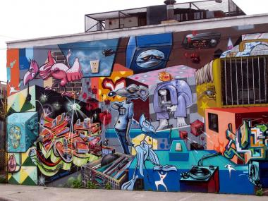 Graffiti by Tats Cru, photographed by Lois Stavsky in the Hunts Point section of the Bronx.