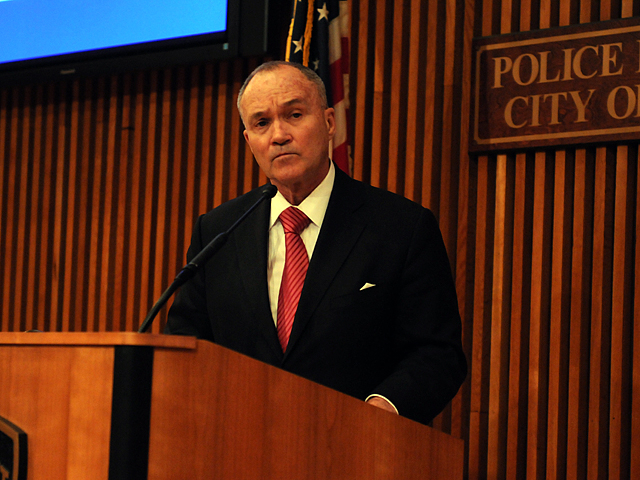 Police Commissioner Ray Kelly declined to answer questions about the rape accusations against his son Greg Kelly Jan. 27, 2012.