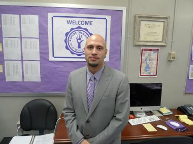 Principal Roberto Padilla of West Prep Academy, a magnet school on West 105th Street between Amsterdam and Columbus avenues.
