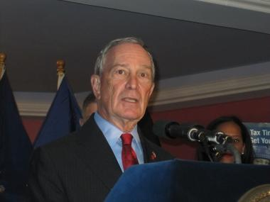 Mayor Michael Bloomberg again defended Police Commissioner Ray Kelly's and his spokesman, Paul Browne.
