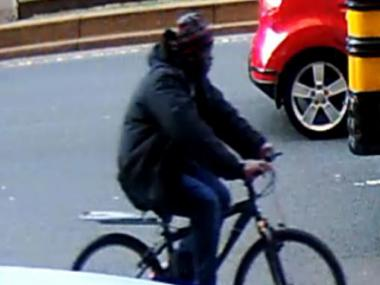 Police released an image of this man, a suspect for allegedly stealing a woman's iPhone while riding his bike along Park Avenue on Jan. 25, 2012.