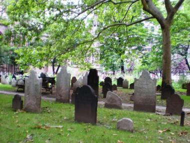 This graveyard is next to Trinity Church, which is undergoing an internal battle over leadership.