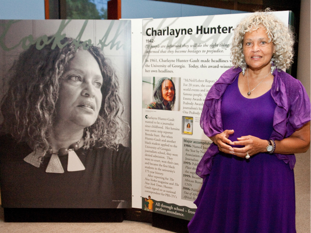 Charlayne Hunter-Gault was granted admission to the University of Georgia in 1961 after a two year battle against segregation in the Supreme Court.