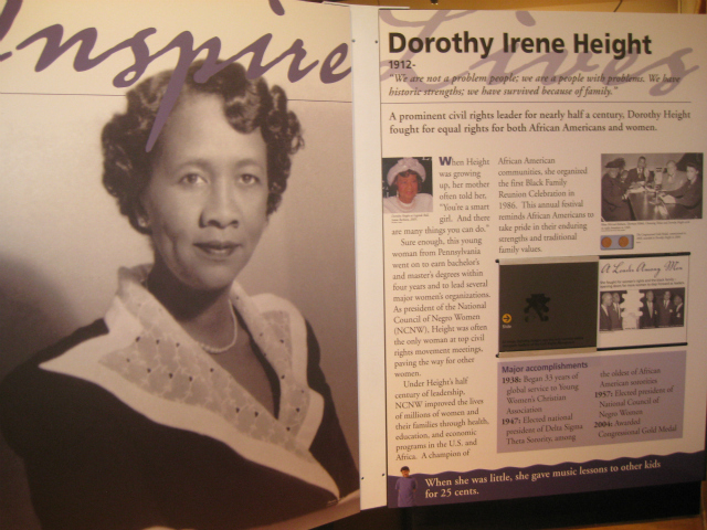 Dorothy Irene Height has been Involved in the civil rights movement from its beginnings as an advisor to presidents and a friend of powerful civil rights leaders.