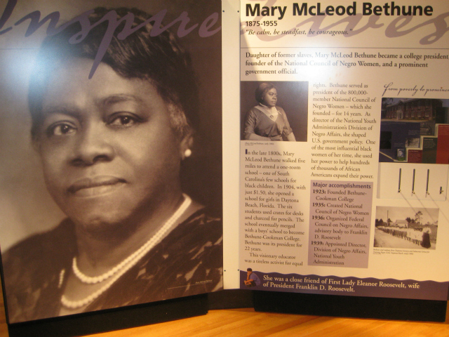 Mary McLeod Bethune worked for the election of Franklin D. Roosevelt in 1932 and lobbied for his support on a proposed law against lynching.