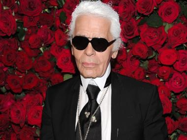Karl Lagerfeld opened a pop-up shop on Bleecker Street in the West Village Jan. 27, 2012.