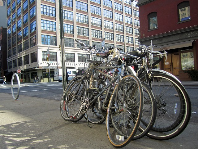 <p>Hudson Square&#39;s business improvement district installed 35 new bike racks in the area. Some Upper West Siders feel their neighborhood is also in dire need of bike racks.&nbsp;</p>