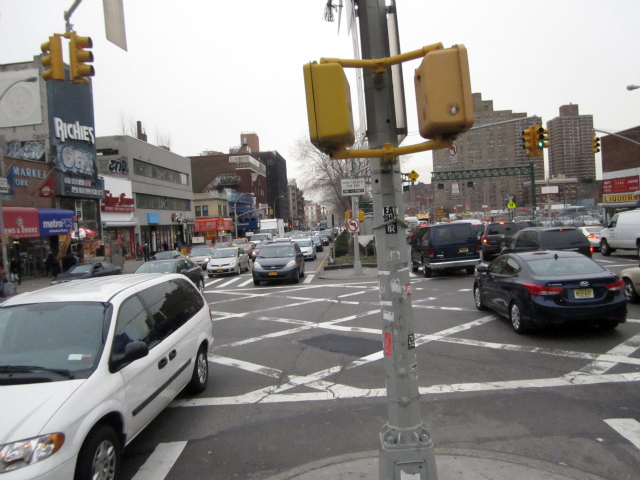 Delancey Street is going to get narrower so it's easier for pedestrians to cross.