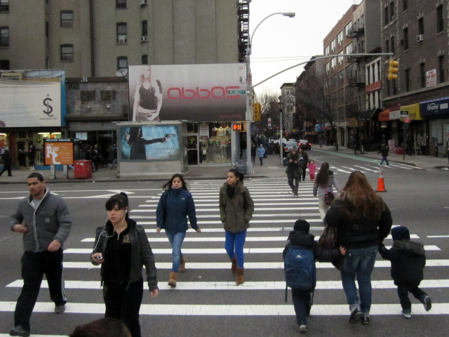 Pedestrians crossing Delancey Street at Clinton Street now have just 22 seconds to traverse 10 lanes of traffic.