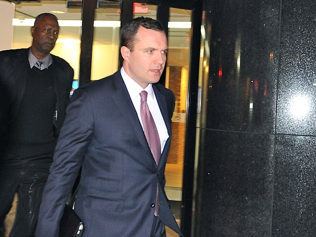 Greg Kelly walks out of the Fox 5 studios on East 67th Street on Feb. 8, 2012.