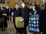 Activists Storm Grand Central Apple Store to Protest Factory Conditions