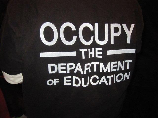 <p>Occupy Wall Street protesters have formed a splinter group: Occupy the Department of Education.</p>